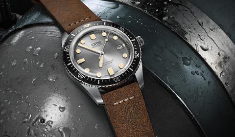 Новые модели Oris Divers Sixty-Five оснащены привлекательным серебристым циферблатом и прочным 42-миллиметровым корпусом