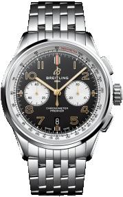 Breitling Premier B01 Chronograph 42 Norton Steel - Black AB0118A21B1A1