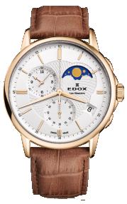 Edox Les Bémonts Chronograph Moon Phase 01651-37J-AID