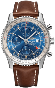 Breitling Navitimer Chronograph GMT 46 Steel - Blue A24322121C1X2
