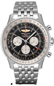 Breitling Navitimer B04 Chronograph GMT 48 Steel - Black AB0441211B1A1
