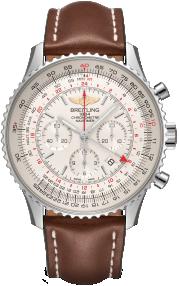 Breitling Navitimer B04 Chronograph GMT 48 Steel - Mercury Silver AB0441211G1X1