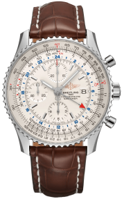 Breitling Navitimer Chronograph GMT 46 Steel - Silver A24322121G1P1