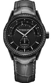 Raymond Weil Freelancer Ladies Black Diamond Automatic Watch 2778-BKS-20001