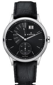 Edox Les Vauberts Date Retrograde 34500-3-NIN