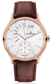 Edox Les Vauberts Date Retrograde 34500-37R-AIR
