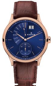 Edox Les Vauberts Date Retrograde 34500-37R-BUIR