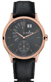 Edox Les Vauberts Date Retrograde 34500-37R-GIR