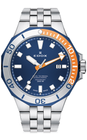 Edox Delfin Diver Date 53015-357BUOM-BUIN