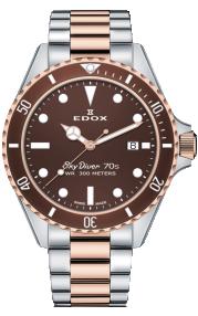 Edox SkyDiver 70s Date 53017-357RBRM-BRI