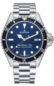Edox SkyDiver 70s Date 53017-3NM-BUI