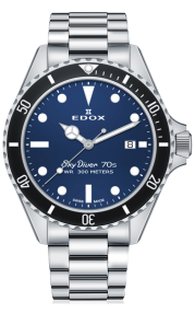 Edox SkyDiver 70s Date Automatic 80112-3NM BUI