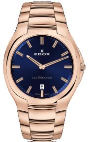 Edox Les Bémonts Ultra Slim Date 56003-37R-BUIR