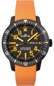 Fortis B-42 BLACK MARS 500 DAY/DATE 647.28.13.Si.19
