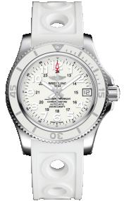 Breitling Superocean II 36 Steel - Hurricane White A17312D21A1S1
