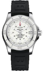 Breitling Superocean II 36 Steel - Hurricane White A17312D2/A775/237S/A16S.1