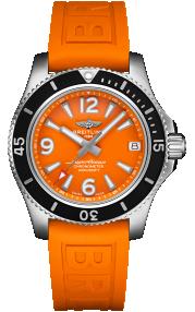 Breitling Superocean Automatic 36 Steel - Orange A17316D71O1S1