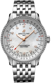 Breitling Navitimer Automatic 35 Steel - Mother-Of-Pearl Diamonds A17395211A1A1
