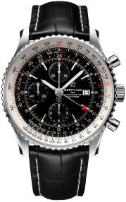Breitling Navitimer Chronograph GMT 46 Steel - Black A24322121B2P2