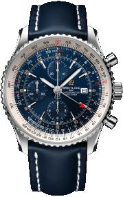 Breitling Navitimer Chronograph GMT 46 Steel - Blue A24322121C2X1