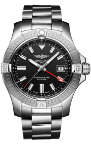 Breitling Avenger Automatic GMT 43 Stainless Steel Black A32397101B1A1