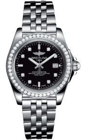 Breitling Galactic 32 Sleek Steel - Trophy Black Diamond A71330531B1A1