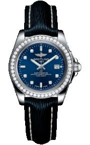 Breitling Galactic 32 Sleek Steel - Horizon Blue Diamond A7133053/C966/210X/A14BA.1