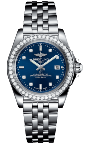 Breitling Galactic 32 Sleek Steel - Horizon Blue Diamond A7133053/C966/792A