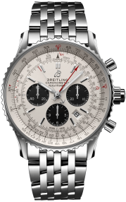 Breitling Navitimer B03 Chronograph Rattrapante 45 Steel - Silver AB0310211G1A1
