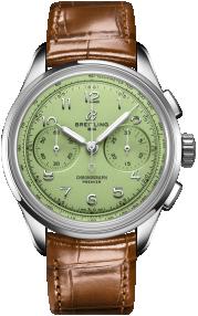 Breitling Premier B09 Chronograph 40 Stainless Steel - Pistachio Green AB0930D31L1P1