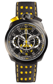 Bomberg Bolt-68 Black & Yellow Quartz Chronograph 45mm BS45CHPBA.015.3