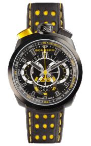 Bomberg Bolt-68 Black & Yellow Quartz Chronograph 45mm BS45CHPBA.015.3