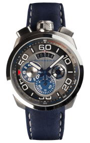 Bomberg Bolt-68 Steel & Blue Quartz Chronograph 45mm BS45CHSS.007.3
