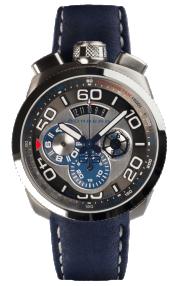 Bomberg Bolt-68 Steel & Blue Quartz Chronograph 45mm BS45CHSS.007.3