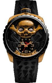 Bomberg Bolt-68 Skull Rider Gold BS47APBA.056-2.3