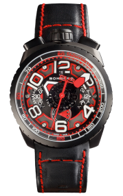 Bomberg Bolt-68 Black & Red Automatic Chronograph 47mm BS47CHAPBA.041-1.3