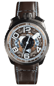 Bomberg Bolt-68 Chocolate Blue Automatic Chronograph 47mm BS47CHAPBA.041-2.3
