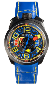 Bomberg Bolt-68 Electric Blue Automatic Chronograph 47mm BS47CHAPBA.041-3.3