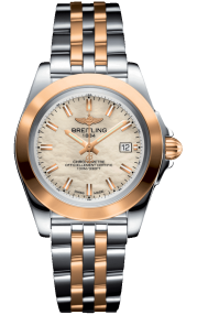 Breitling Galactic 32 Sleek Steel & Rose Gold - Mother-Of-Pearl C71330121A1C1
