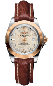 Breitling Galactic 32 Sleek Steel & Rose Gold - Mother-Of-Pearl Diamonds C7133012/A803/211X/A14BA.1