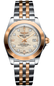 Breitling Galactic 32 Sleek Steel & Rose Gold - Mother-Of-Pearl Diamonds C7133012/A803/792C