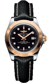 Breitling Galactic 32 Sleek Steel & Rose Gold - Trophy Black Diamond C7133012/BF64/208X/A14BA.1