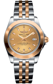 Breitling Galactic 32 Sleek Steel & Rose Gold - Golden Sun C7133012/H549/792C