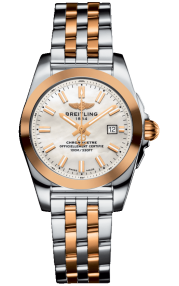 Breitling Galactic 29 Sleek Steel & Rose Gold - Mother-Of-Pearl C72348121A1C1