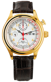 Ball Trainmaster Doctor's Chronograph CM1032D-PG-L1J-WH