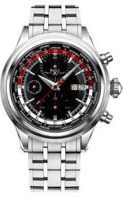 Ball Trainmaster Worldtime Chronograph CM2052D-S1J-BKRD