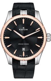 Edox Grand Ocean Slim Line Date 56002-357RC-NIR