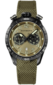 Bomberg BB-68 Green Chronograph Gent 44mm NS44CHPBA.207.9