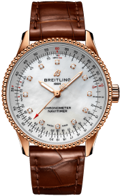 Breitling Navitimer Automatic 35 18k Red gold - Mother-Of-Pearl Diamonds R17395211A1P1