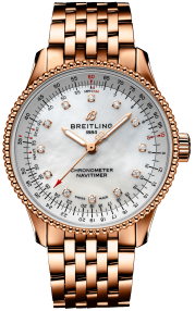 Breitling Navitimer Automatic 35 18k Red gold - Mother-Of-Pearl Diamonds R17395211A1R1